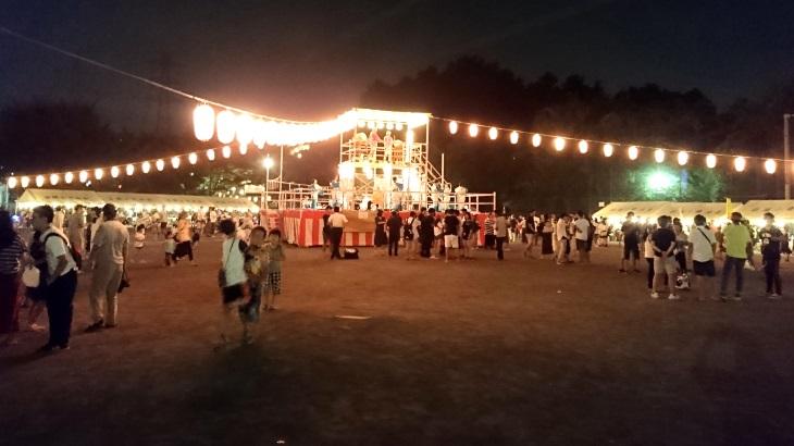 地域最大規模の盆踊り大会「日限山自治会夏祭」@日限山公園