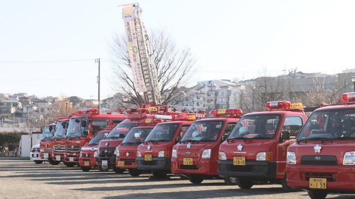 乗り物キッズ必見の新春恒例行事「港南区消防出初式」